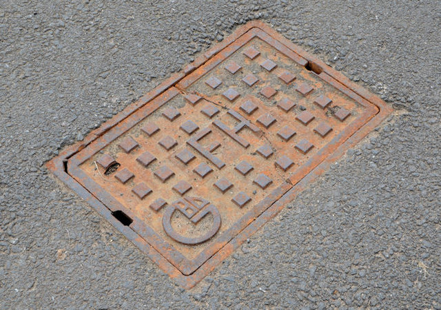 """""""GBD"""" fire hydrant cover, Belfast (1)"""