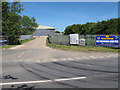 TM4587 : Entrance to Skydiving Centre, Ellough Airfield by Roger Jones