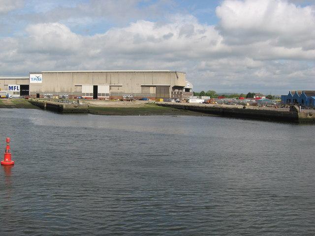 Furness Shipyard slipways ( redundant )