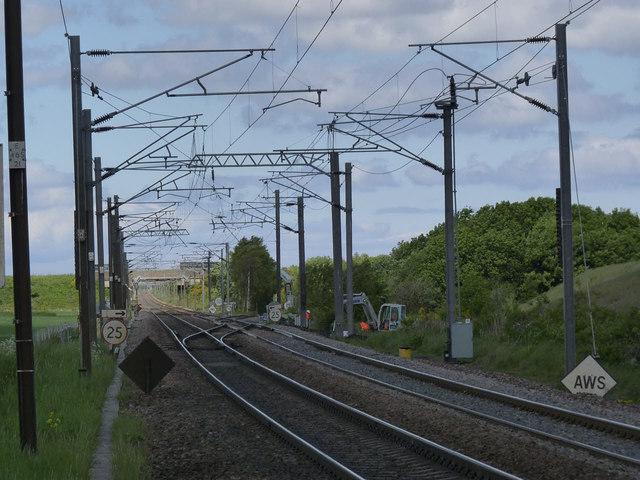 East Coast Main Line at Ulgham Lane crossing