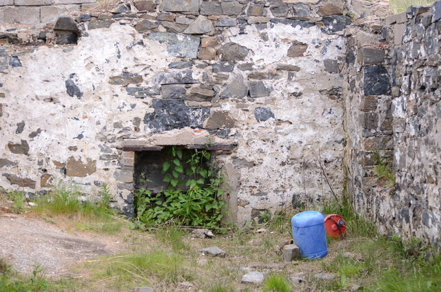 Fireplace in the Remains of Forvie Salmon Bothy