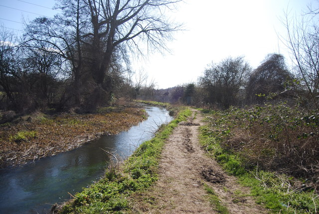 River Darent and path