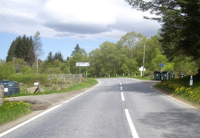 Junction for Alyth off A93