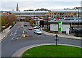 SO9422 : Entrance road to Waitrose car park and superstore, Cheltenham by Jaggery