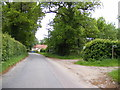 TM4585 : Pound Road & footpath to Sotterley Road by Adrian Cable