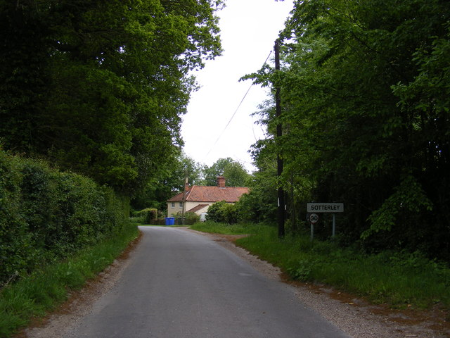 Entering Sotterley on Pound Road