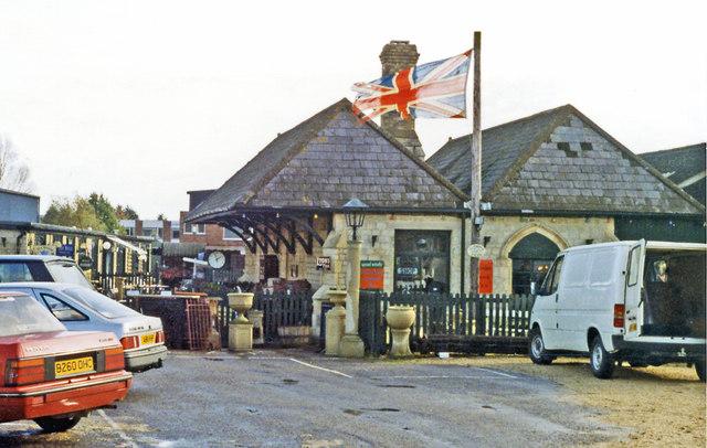 Faringdon former railway station, 1992