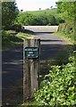 SX5388 : Sign on the Granite Way by Derek Harper