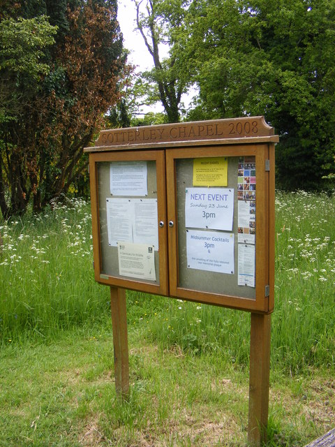 Sotterley Chapel Notice Board