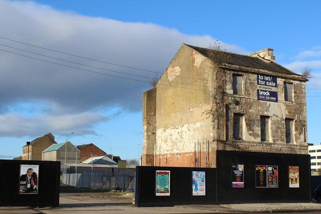 Derelict Georgian Townhouse, corner of Clyde Place & Tradeston Street, Glasgow