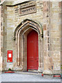 NT3164 : Cockpen Church west door by Alan Murray-Rust