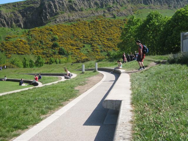 Design oversight, Scottish Parliament landscape