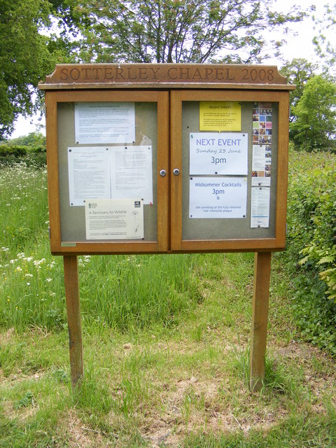 Sotterley Chapel Notice Board