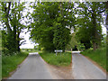 TM4584 : Entering Sotterley on Southwell Lane by Adrian Cable