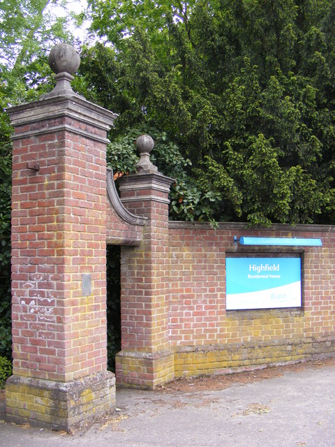 Entrance to Highfield Residential Home