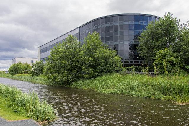 Office block beside Union Canal