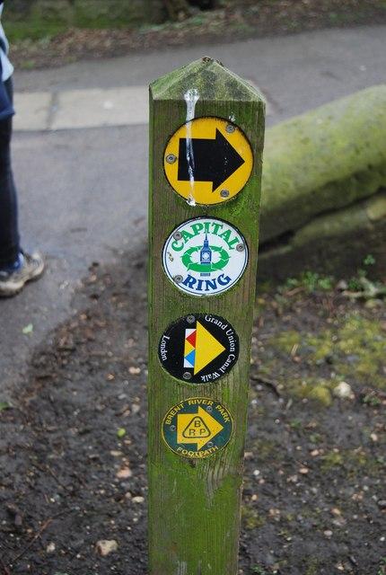 Three walk logos, Gallows Bridge