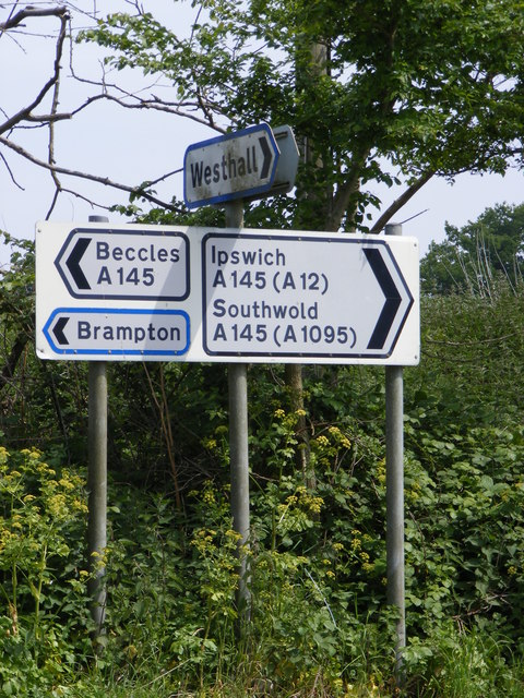 Roadsigns on the A145 London Road