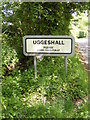 TM4479 : Uggeshall sign on Stoven Road by Adrian Cable