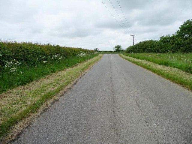 Woolsthorpe Road, looking west