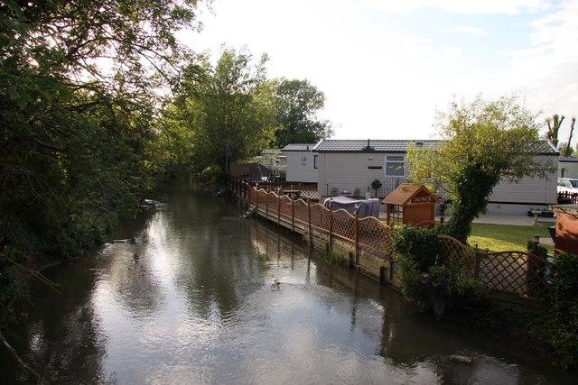 The River Windrush in Hardwick Park