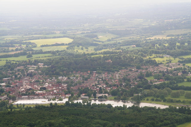Henley-on-Thames: aerial 2013 by Chris