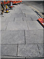 NT2673 : Newly-laid paving, corner of Horse Wynd and Abbey Strand by Robin Stott