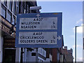 TQ2384 : Pre-Worboys sign on Willesden Lane by David Howard