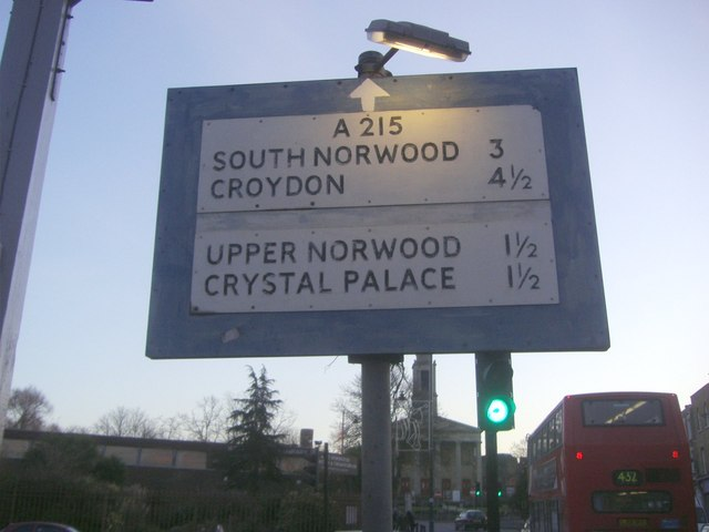 Pre-Worboys direction sign on Norwood Road