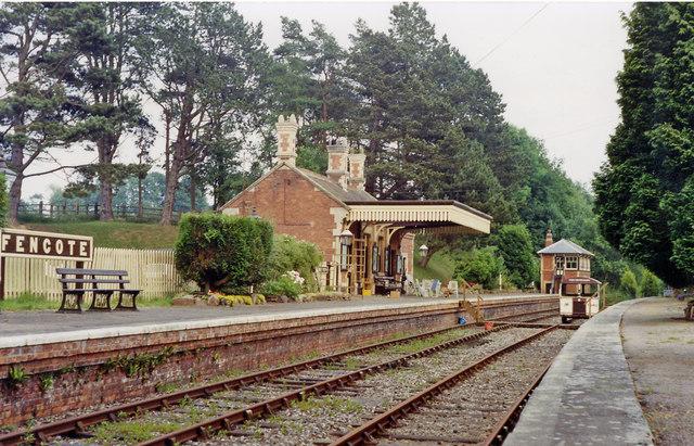 Fencote station (preserved), 1992