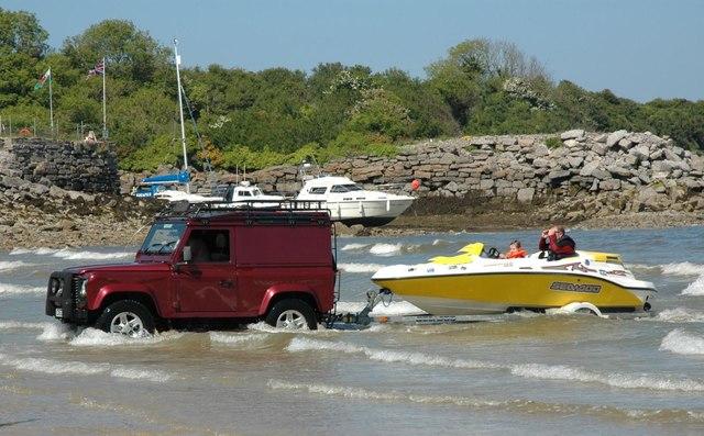 Towed ashore - Traeth Bychan