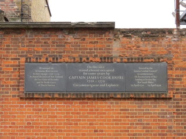 Captain Cook Commemoration Plaque