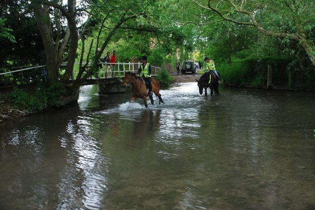 Ford and Riders at Ramsbury