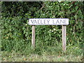 TM1439 : Valley Lane sign by Adrian Cable