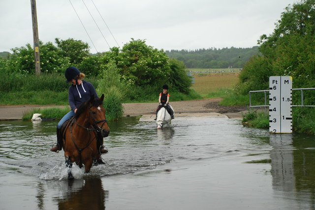 Ford and Riders at Bucklebury
