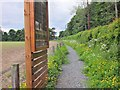 NT4528 : Information boards and path, site of Battle of Philiphaugh by Jim Barton