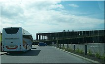 C9443 : The new Giant's Causeway Visitors' Experience building from the car park by Eric Jones