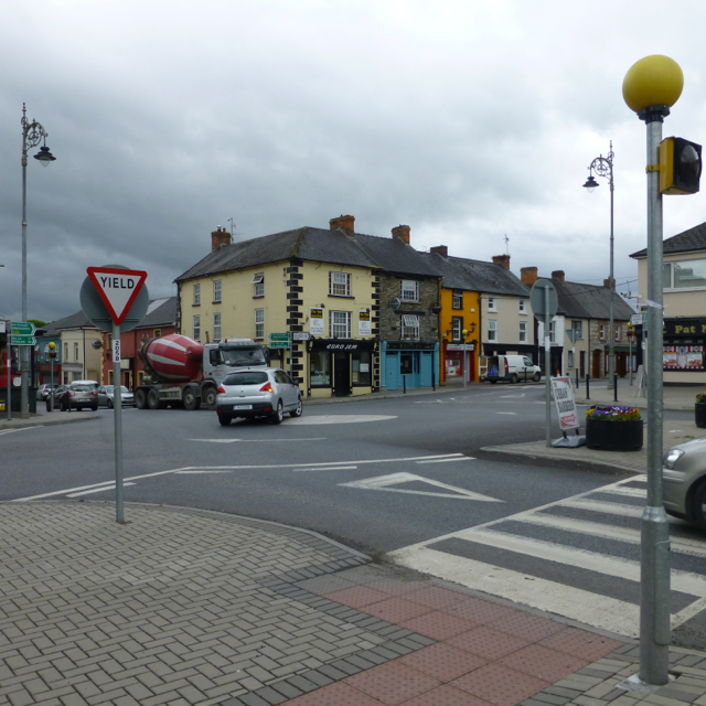 The main crossroads in Bunclody
