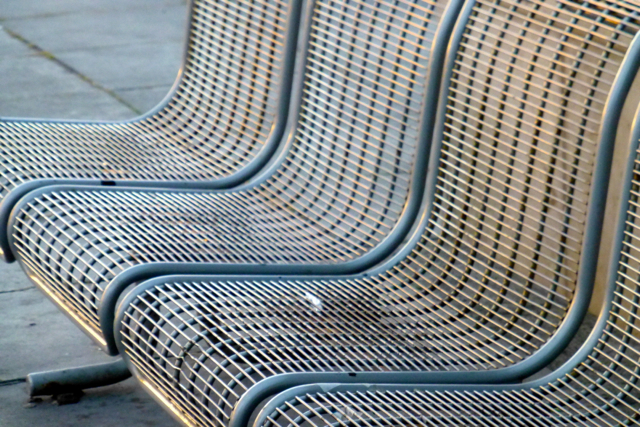 Bus station seats