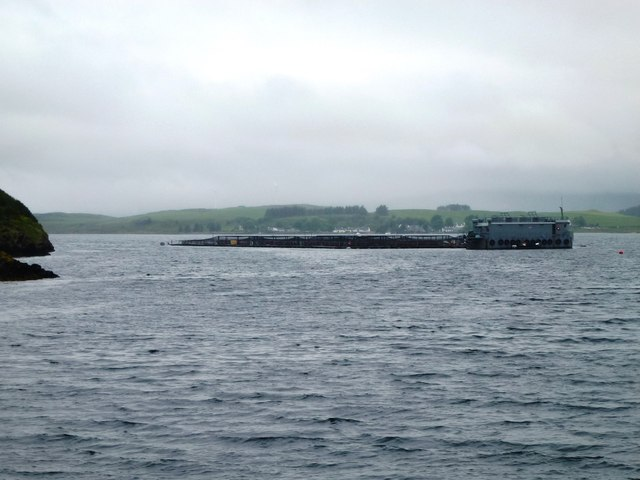Fish farm off the north west of Shuna