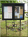 TM1241 : St.Peter's Church Notice Board by Adrian Cable