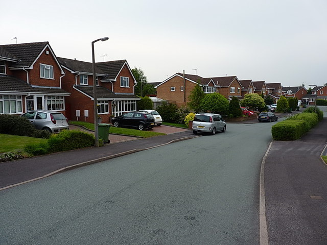 Houses on St Lawrence Drive in Hawks Green