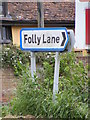 TM1039 : Folly Lane sign by Adrian Cable