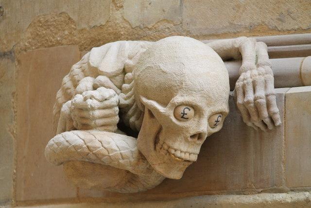 Skull Grotesque Lincoln Cathedral 169 J Hannan Briggs