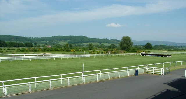 Ludlow Racecourse final straight