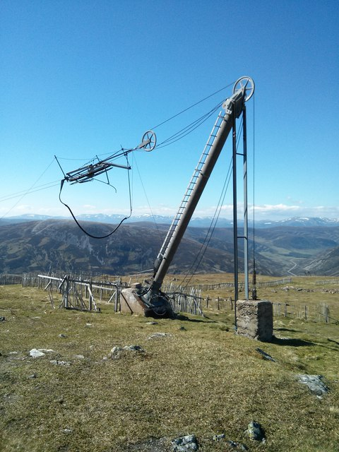 Close up view of the Pulley structure for the Ski Tow