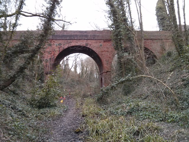 Bridge over Park Road, from the disused railway cutting