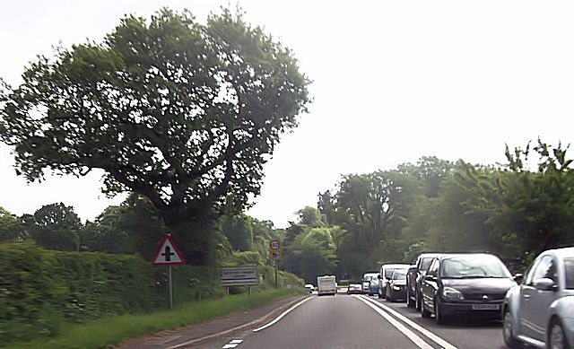 Approaching Weston under Lizard on A5