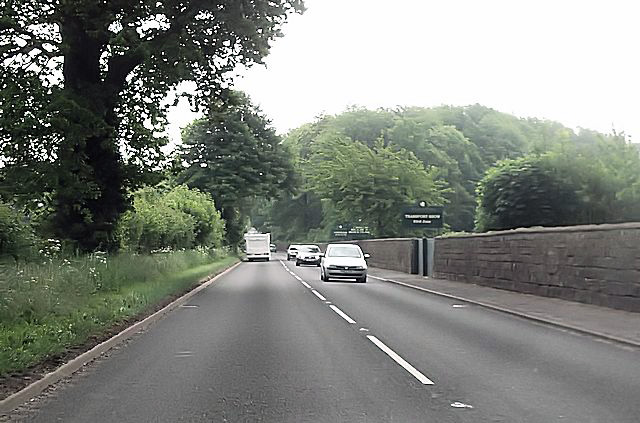 A5 at Weston Park east entrance
