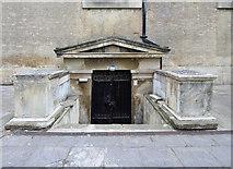 TQ3075 : St Matthew, Brixton - Crypt entrance by John Salmon